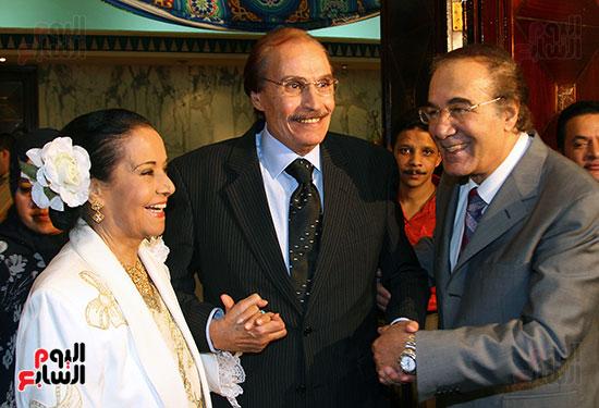 محمود ياسين و عزت العلايلى و مديحة يسرى