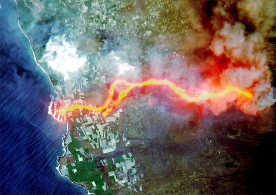 خط النار فى وسط الماء