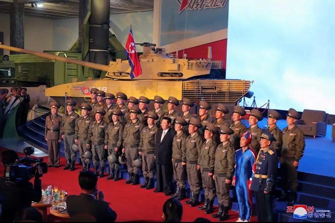 معرض تطوير الدفاع، في بيونغ يانغ، كوريا الشمالية