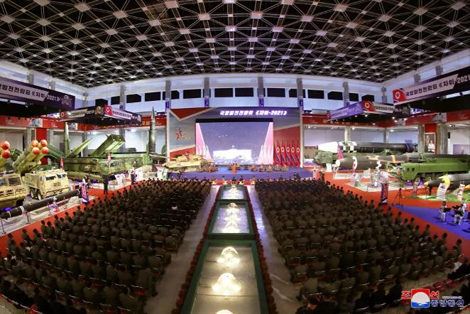 معرض تطوير الدفاع، في بيونغ يانغ، كوريا