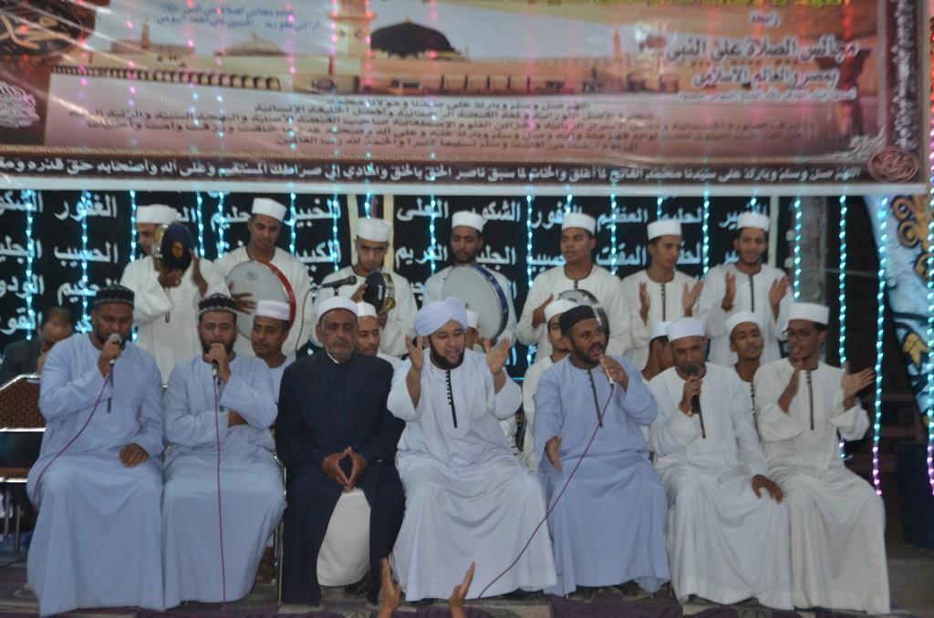 فرقة الإنشاد الديني تحتفل بمولد رسول الله بإسنا