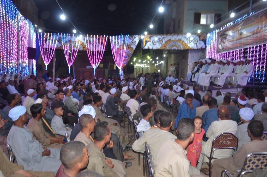 حضور احتفالية مليونية الصلاة على النبي بإسنا