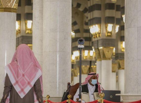 كاميرات حرارية فى المسجد النبوى