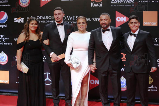 Ahmed El Sakka, his wife and two sons