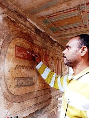 سعدى-زكي-مدير-منطقة-آثار-ترميم-الكرنك
