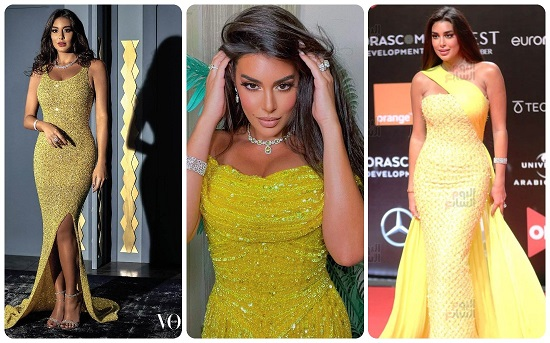 Yasmine Sabry in yellow looks