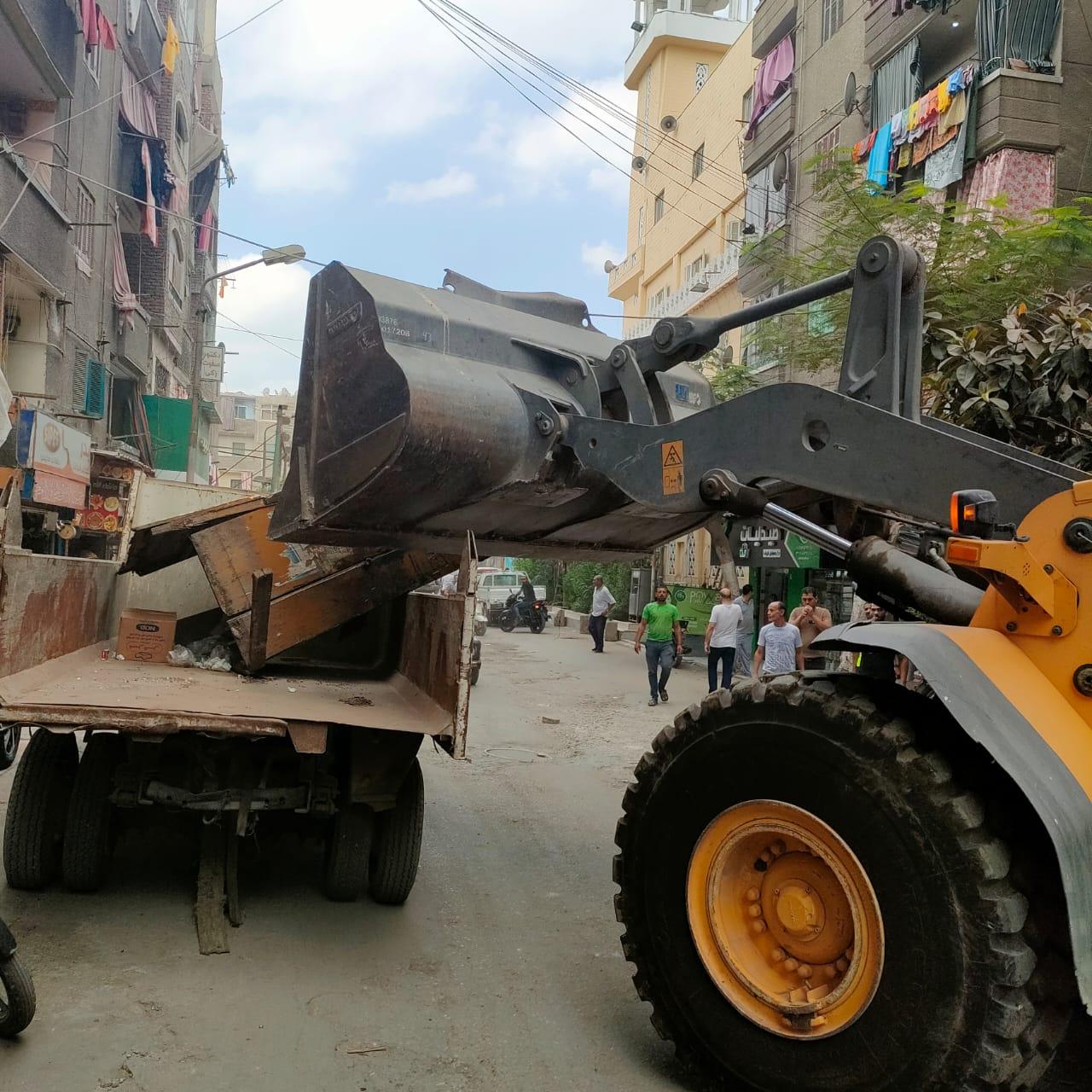 ازالة تعديات على شوارع الجيزة (8)