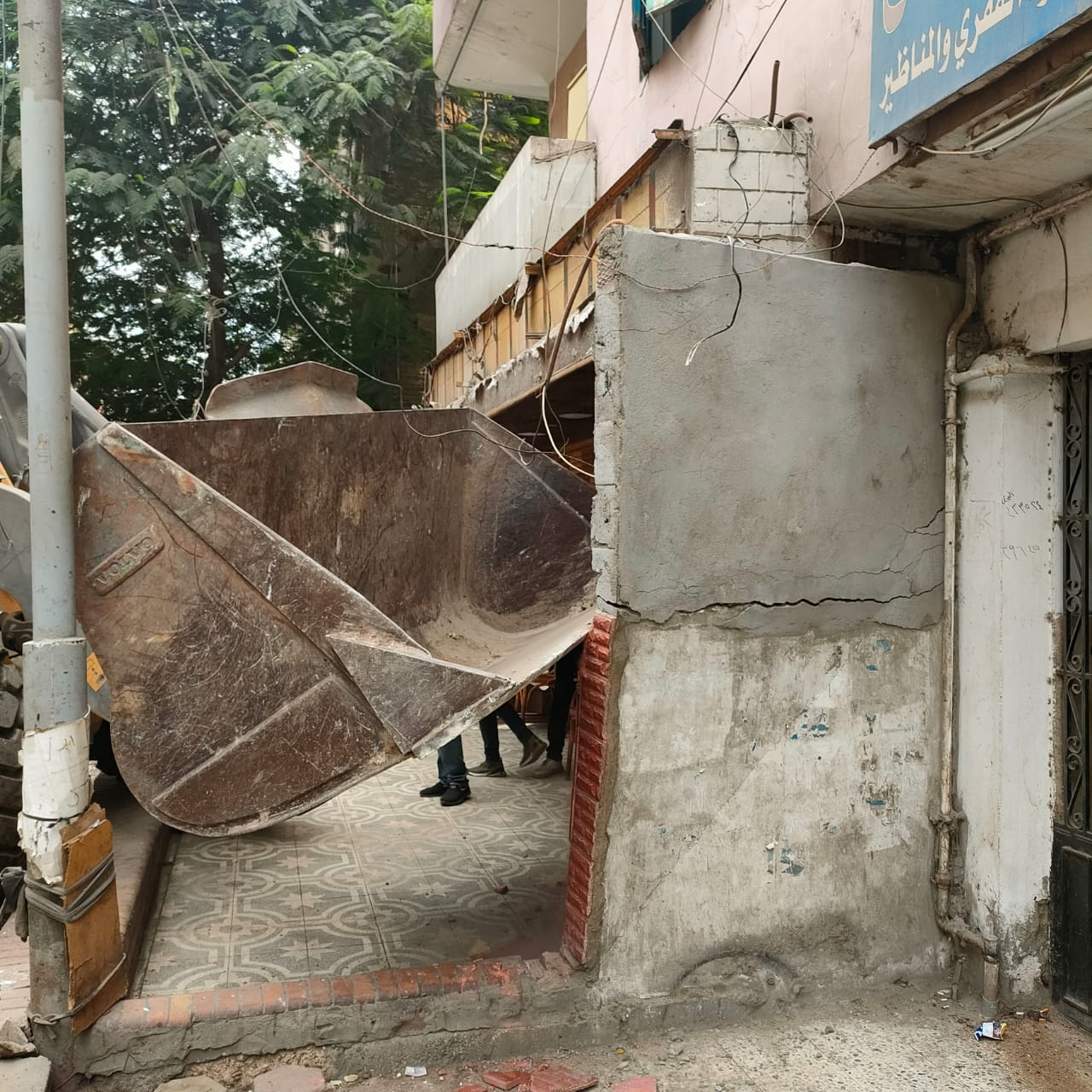 ازالة تعديات على شوارع الجيزة (5)