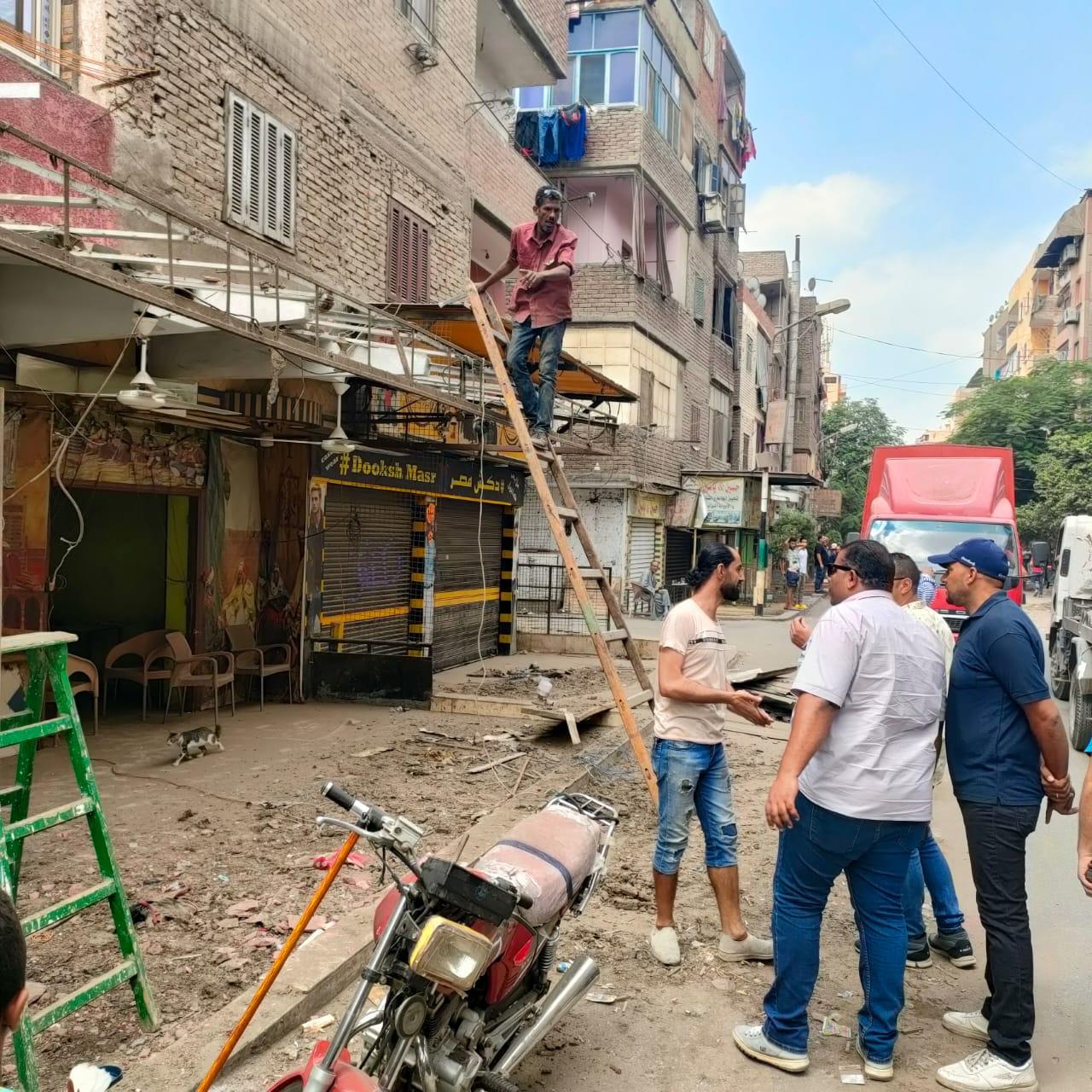 ازالة تعديات على شوارع الجيزة (1)