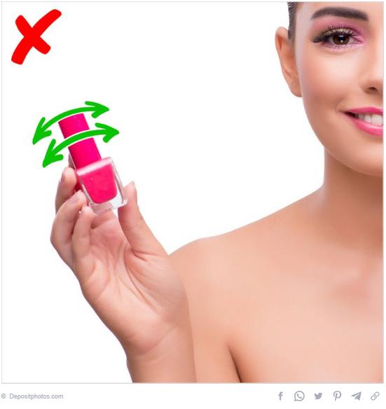 Shake the nail polish bottle