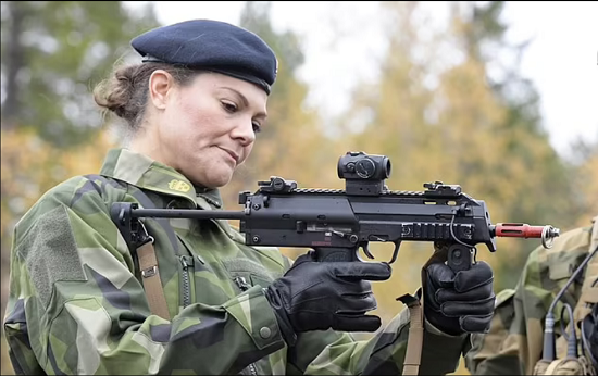 Princess Victoria abandons her femininity and wears military clothes (1)