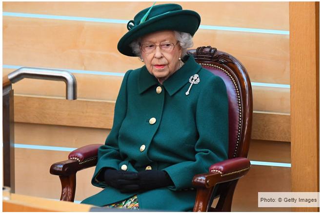 البروش الخاص بالملكة