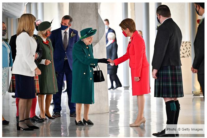 خلال أفتتاح البرلمان الأسكتلندى