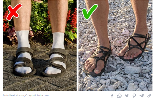 sandals with socks