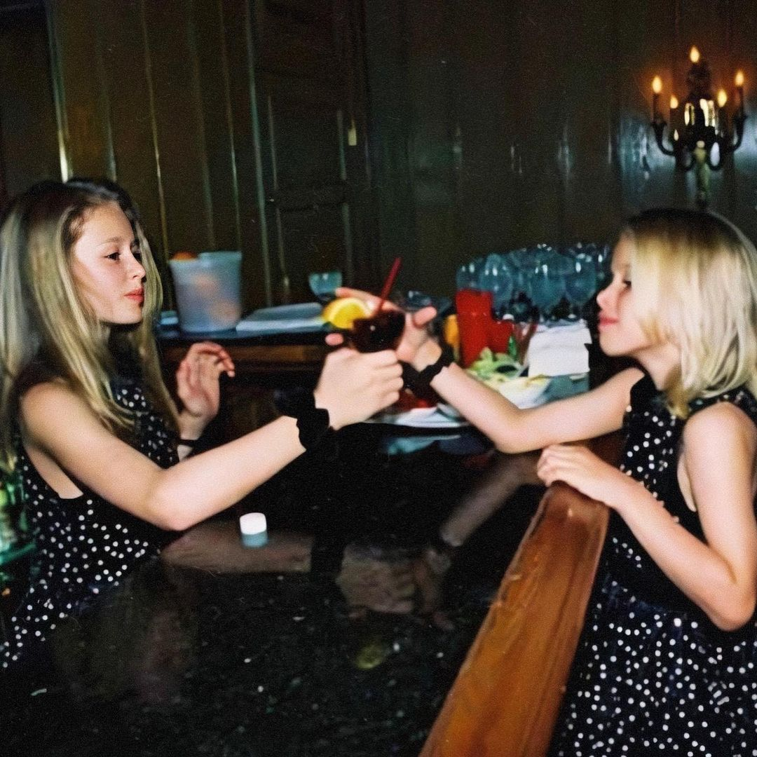 Paris Hilton and her sister in childhood
