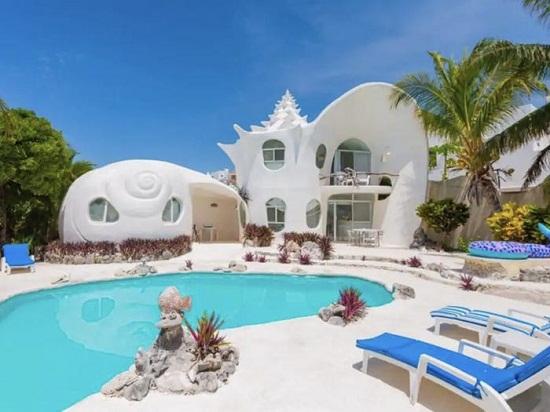 Seashell inspired villa