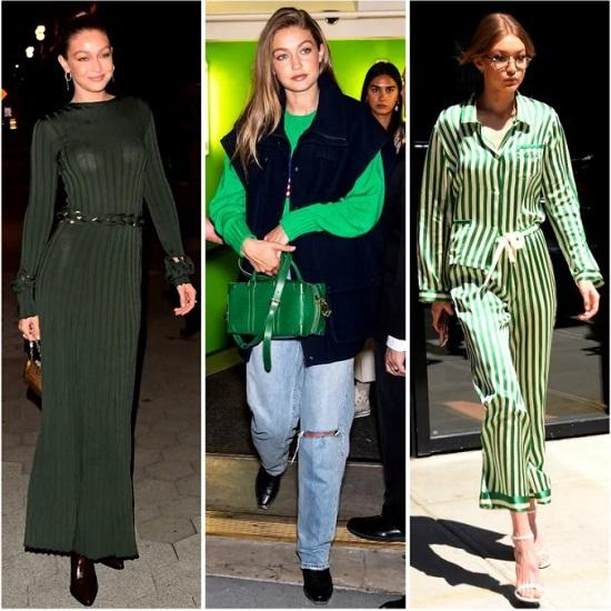Gigi Hadid Green Dress (2)