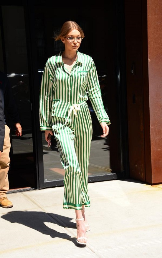 Gigi Hadid Green Dress (4)