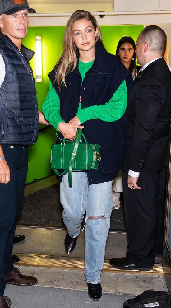 Gigi Hadid Green Dress (1)