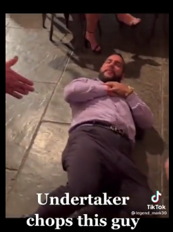 The man falls to the ground