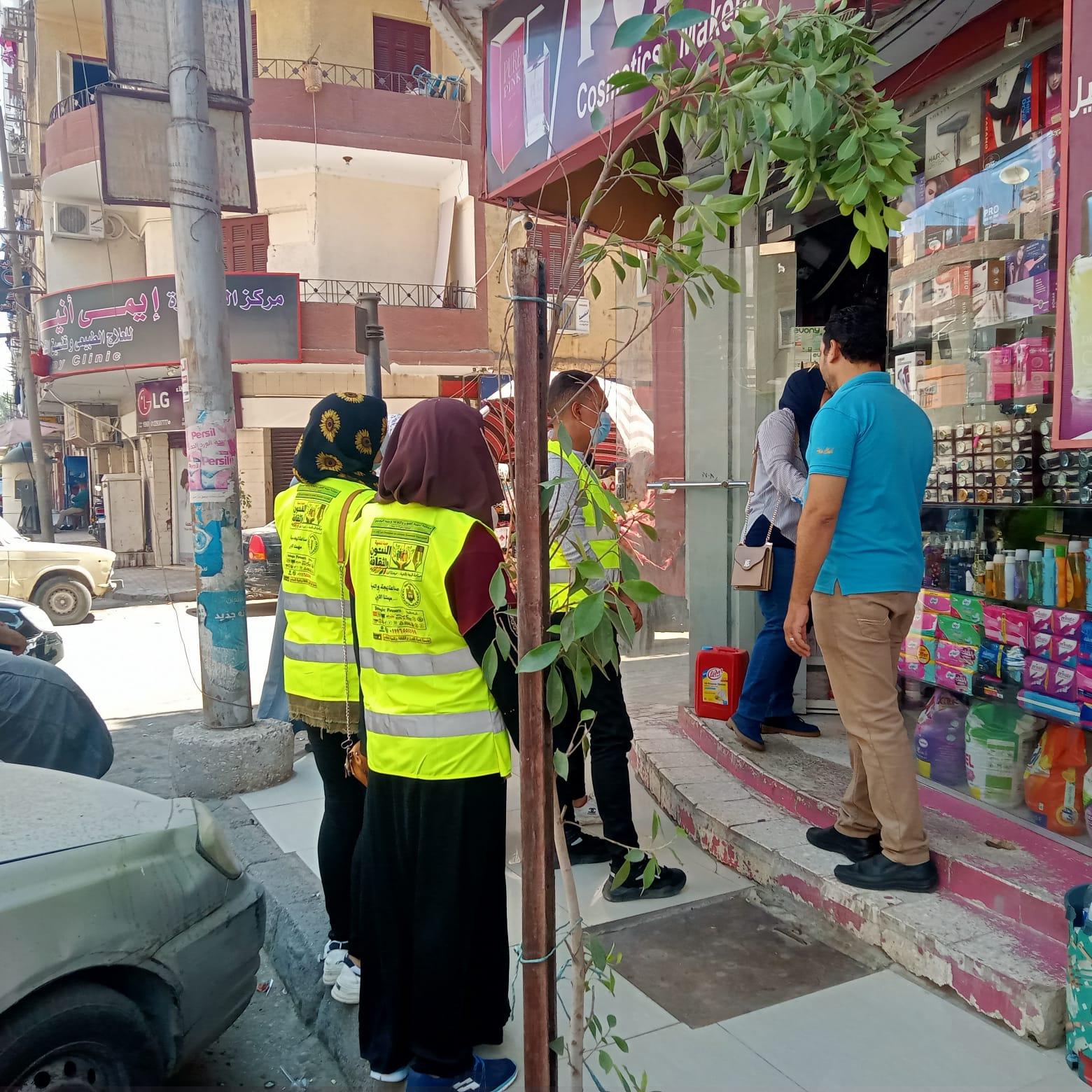 استمرار حملات التشجير والتوعية البيئية وتنفيذ حملة بمنطقة فريال بحي شرق ضمن مبادرة اتحضر لل (9)