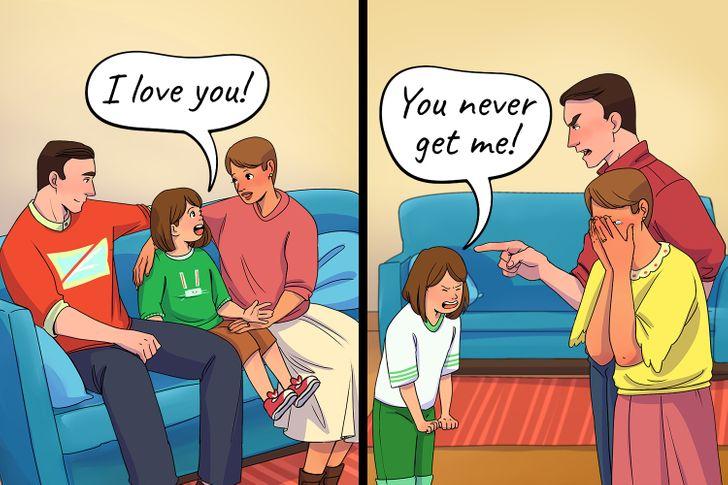 تغير فى المواقف تجاه الوالدين