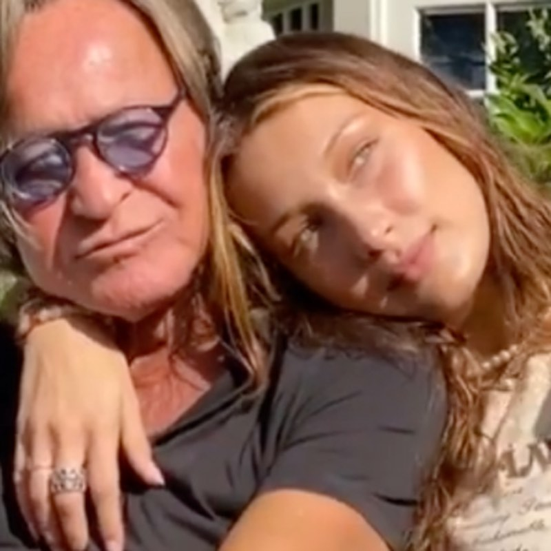 Bella Hadid with her father (2)