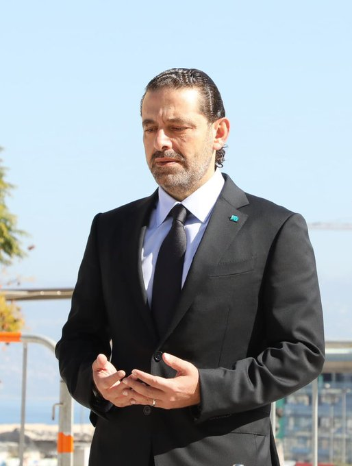 سعد الحريرى على قبر والده