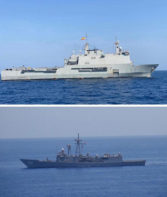 القوات البحرية المصرية والإسبانية