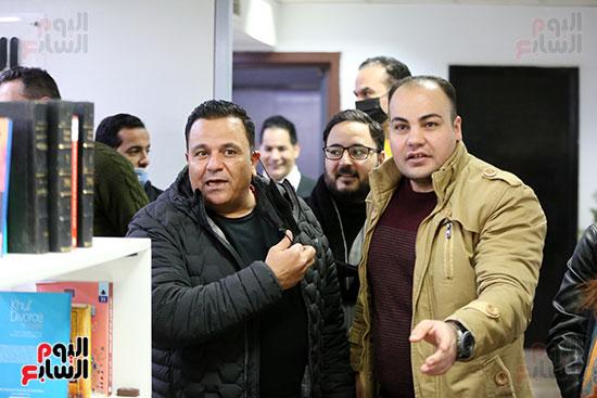محمد فؤاد فى اليوم السابع وفى استقباله عمرو صحصاح رئيس قسم الفن (1)
