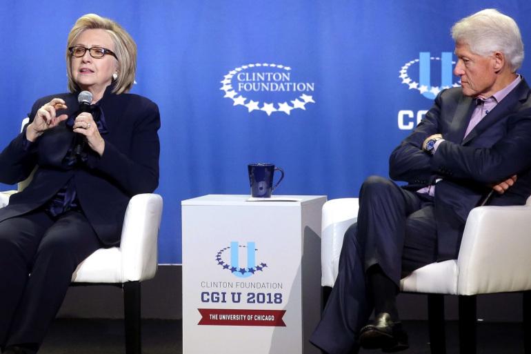بيل كلينتون وزوجته هيلارى