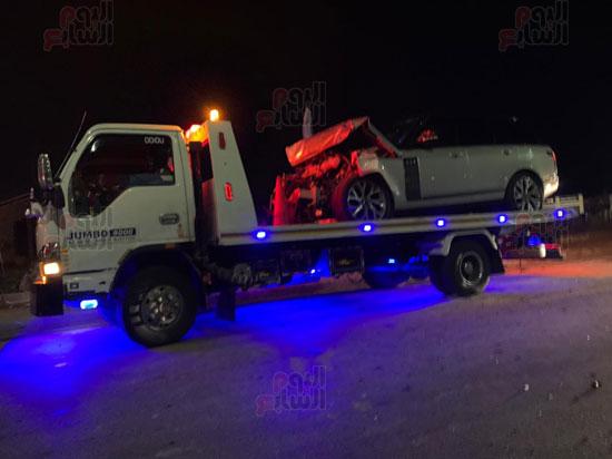تحطم سياره عمرو اديب (2)