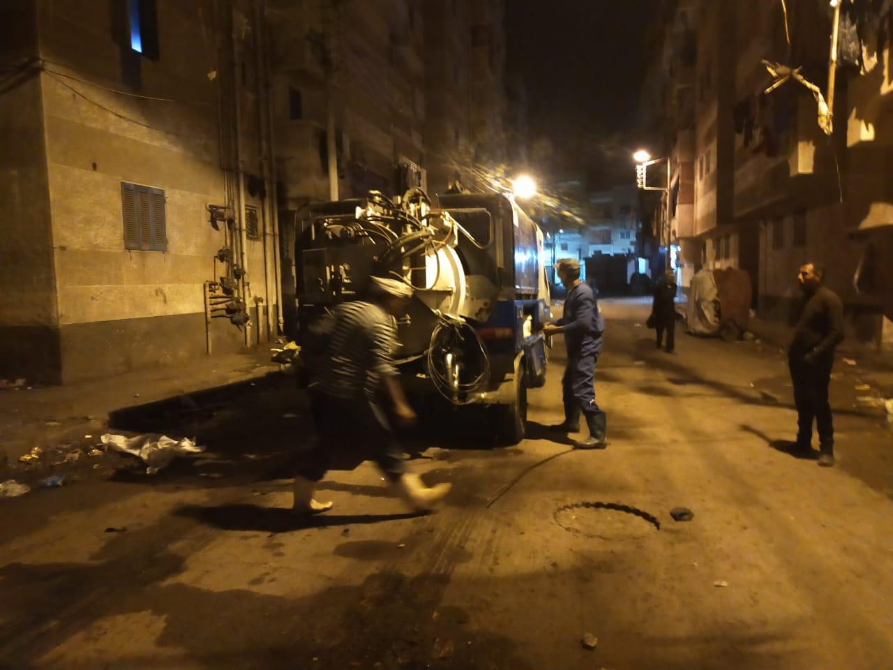 جانب من العمل بشوارع مدن كفر الشيخ