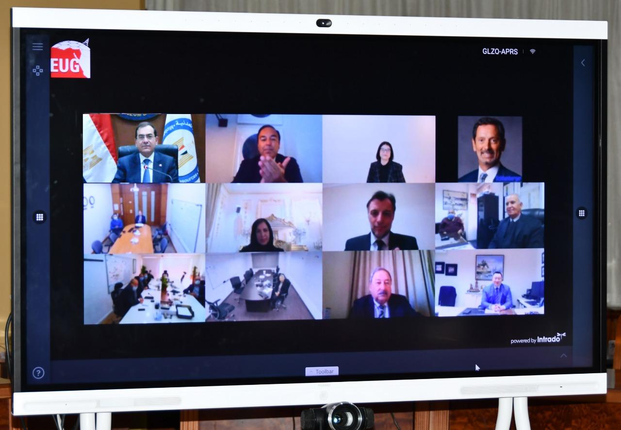 مشاركة رؤساء شركات البترول العالمية فى فعاليات إطلاق بوابة مصر للاستكشاف والانتاج عبر الفيديوكونفرانس
