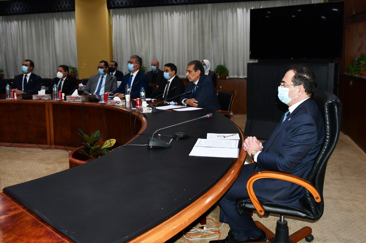 وزير البترول والثروة المعدنية خلال فعاليات اطلاق بوابة مصر للاستكشاف والانتاج