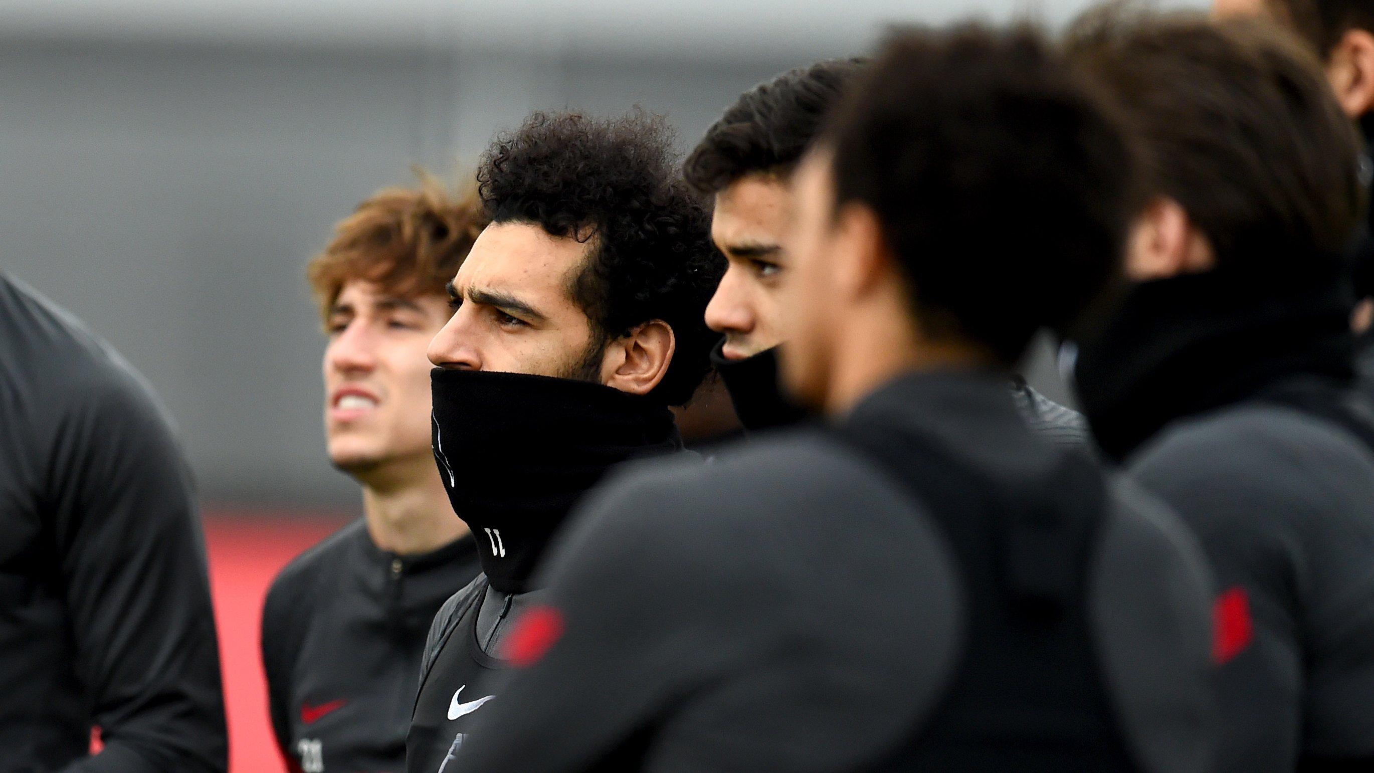 محمد صلاح في تدريبات ليفربول
