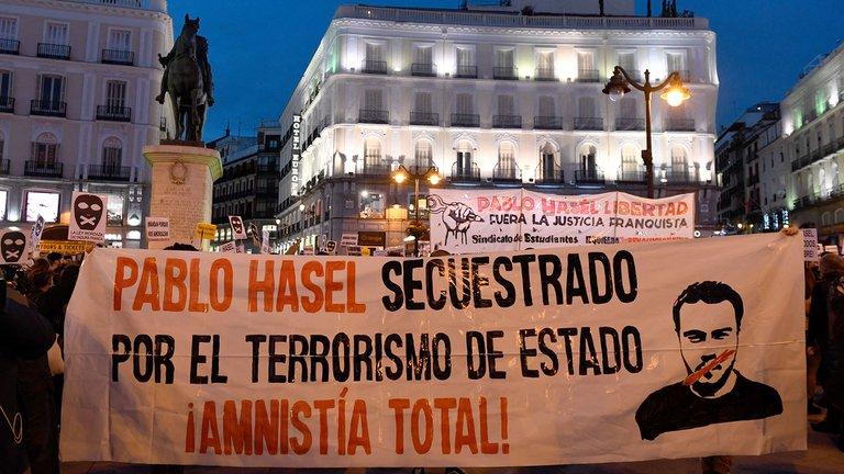 احتجاجات فى اسبانيا