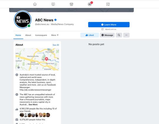 صفحات إعلامية استرالية