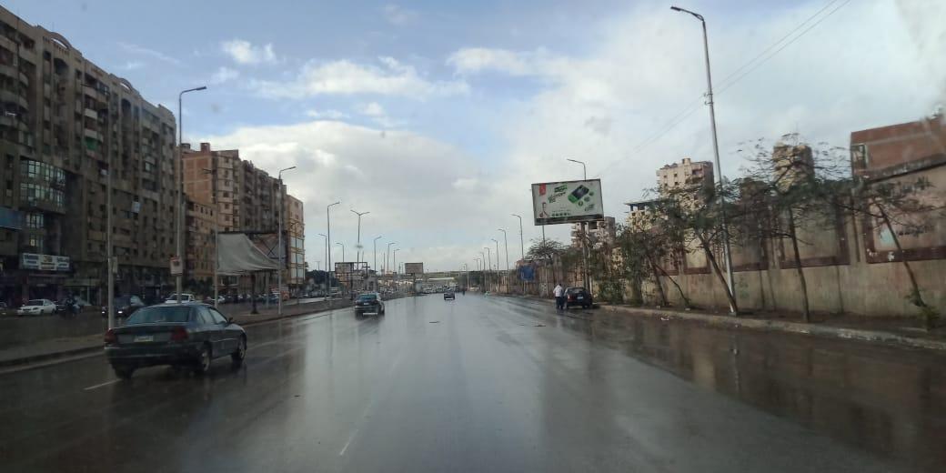 سقوط أمطار بالقليوبية