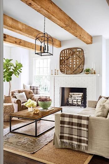 ديكورات غرفة معيشة خشبية