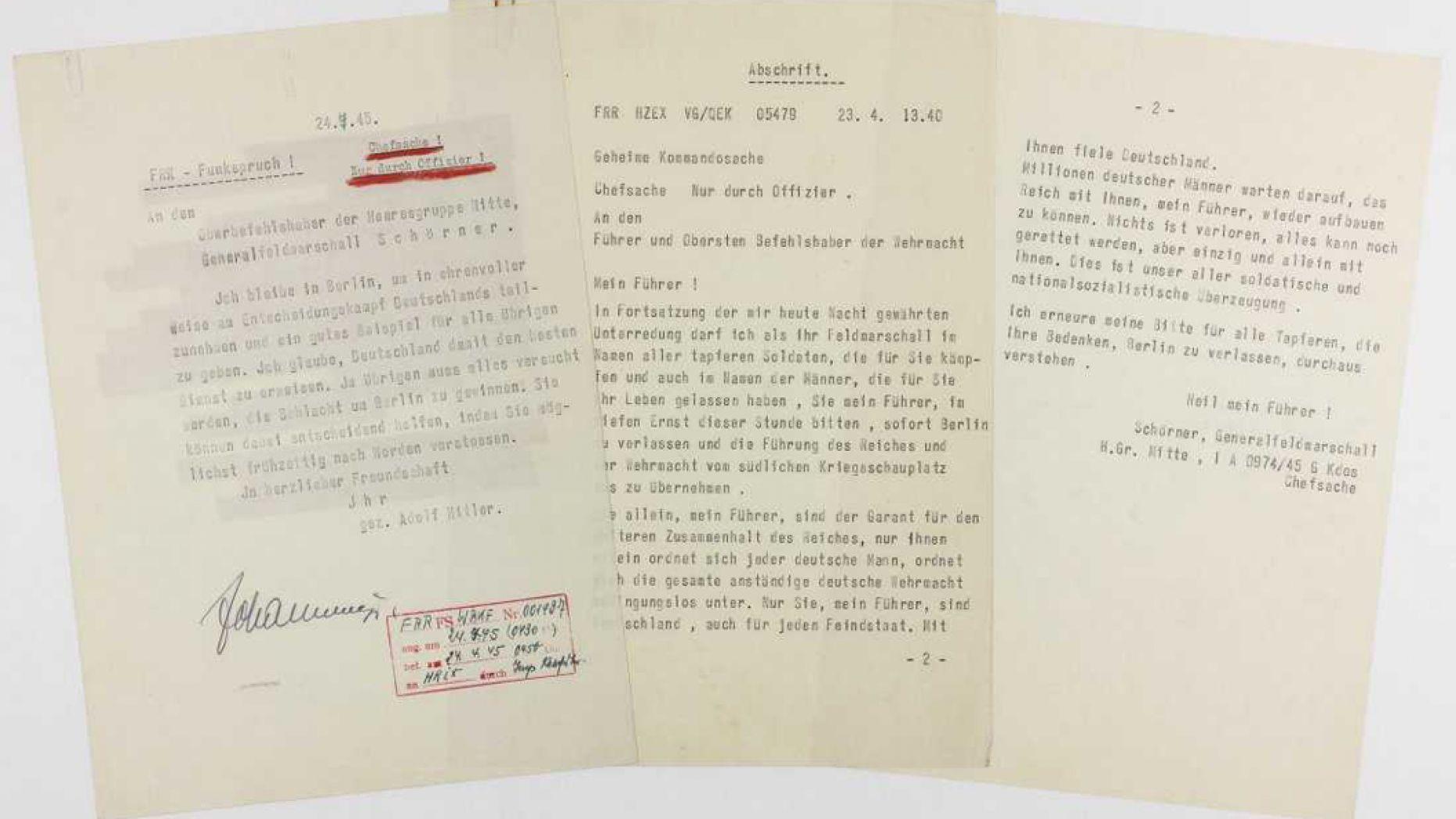 رسالة انتحار هتلر