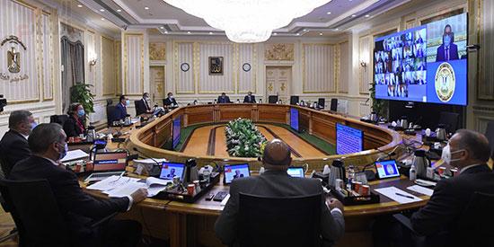 اجتماع مجلس الوزراء الأسبوعى عبر الفيديو كونفرانس (7)