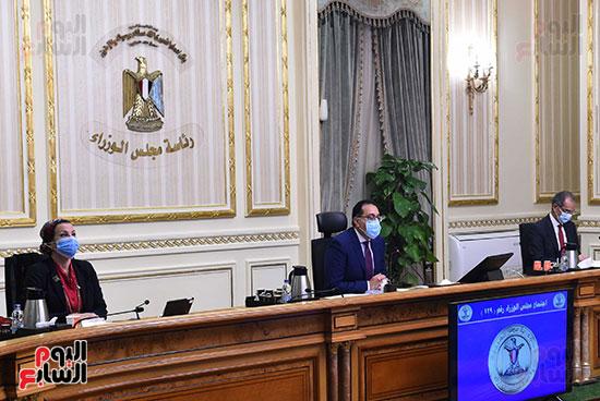 اجتماع مجلس الوزراء الأسبوعى عبر الفيديو كونفرانس (4)