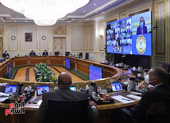 اجتماع مجلس الوزراء الأسبوعى عبر الفيديو كونفرانس (8)