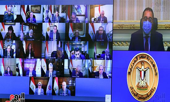 اجتماع مجلس الوزراء الأسبوعى عبر الفيديو كونفرانس (3)