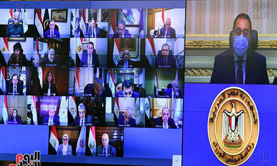 اجتماع مجلس الوزراء الأسبوعى عبر الفيديو كونفرانس (2)