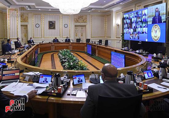 اجتماع مجلس الوزراء الأسبوعى عبر الفيديو كونفرانس (1)