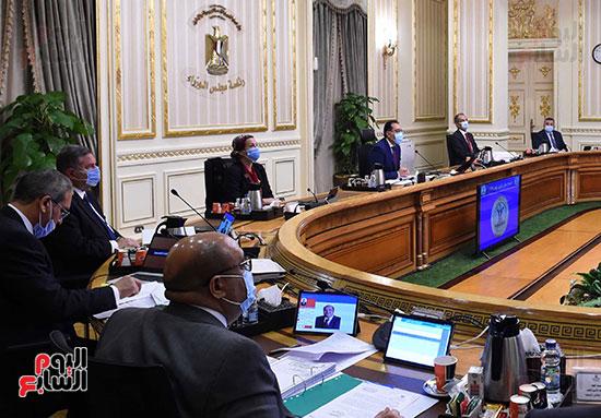 اجتماع مجلس الوزراء الأسبوعى عبر الفيديو كونفرانس (6)