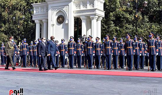 الرئيسان المصرى و الكونغولى