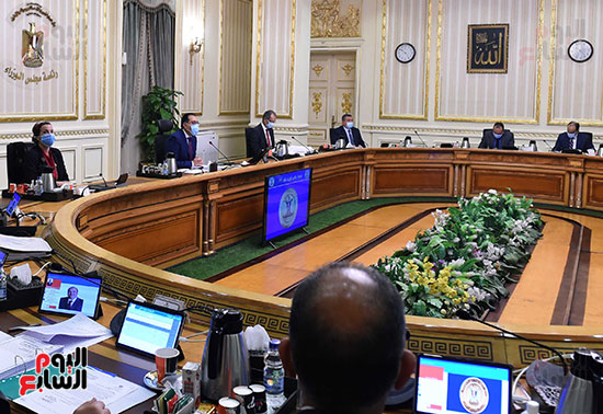 اجتماع مجلس الوزراء الأسبوعى عبر الفيديو كونفرانس (5)